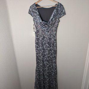 NWT Calvin Klein Maxi Sequins Dress Formal 4